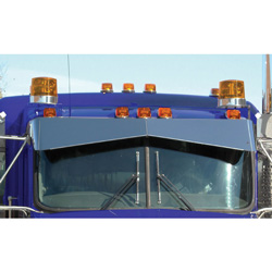 13in Boltless Blind Mount Bowtie Visor for Kenworth
