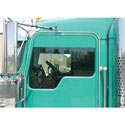 Sanded Stainless Steel Upper Door Trim - For Kenworth