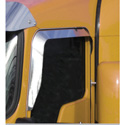 Stainless Window Deflector For Convex Mirrors Fits Kenworth