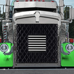 Black Quilted Winter Front Fits Kenworth W900L AeroCab