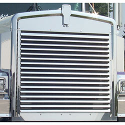 Stainless Steel Custom Louvered Grille Insert Fits Kenworth W900B