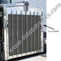 Stainless Steel Grille Side for Kenworth W900L - Driver
