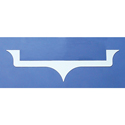 Stainless Steel Side Hood Emblem Logo Trim for Kenworth