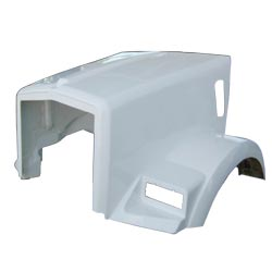 Fiberglass Hood Fits Kenworth T-800 w Curved Windshield