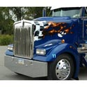 Hood Fits Kenworth W900L-Cowl Induction-Curv. Windshield