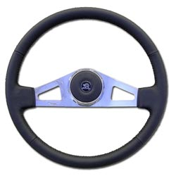 18in Leather Steering Wheel - 2 Spoke For Kenworth 97-01