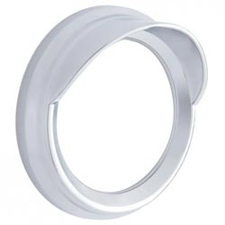 Chrome 5.5 Inch Gauge Bezel With Visor