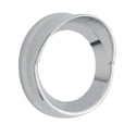 Chrome 2.3125 Inch Small Gauge Bezel With Visor