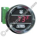 Digital Outside Temperature Gauge - 2-1/16in - Chrome