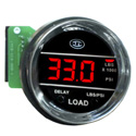 Chrome Bezel Red Digital Load Gauge Fits Kenworth