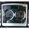 Stainless Steel Speedometer Trim Fits Kenworth