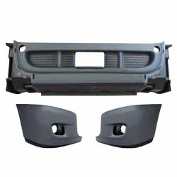 Poly Bumper 3 Piece Kit With Fog Light Cut Outs Fits Freightliner Cascadia