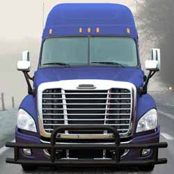 Standard Black 201 Stainless Steel Grille Guard & Mounting Kit Fits Freightliner Cascadia 113 & 125
