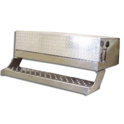 Aluminum 43 inch Battery Box w/ Diamond Plate Lid fits Freightliner