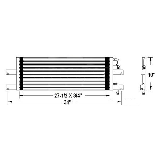 Ac Condenser For Fld112 Fld120 Classic Xl Models 4 State Trucks