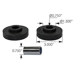 Radiator Mount Bushings For Freightliner Columbia, Century & Classic