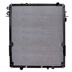 Plastic Aluminum Radiator With Frame, Oil Cooler 45.625 X 41.625 Inch Fits Freightliner Coronado