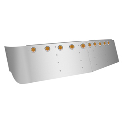 Stainless 16 inch Drop Visor for Freightliner Classic
