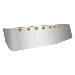 Stainless Steel 16 inch Dropped Visor fits Freightliner