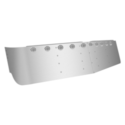 Stainless Steel 16in Dropped Visor for Freightliner Mid Roof