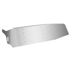 Stainless Steel Gangster Dropped Visor - 15in