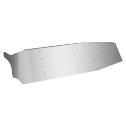 Stainless 15 inch Dropped Visor fits Freightliner