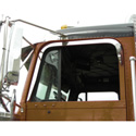Stainless Steel Door Window Deflector Fits Freightliner