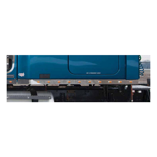 72 Inch Chrome Sleeper Panel With Extenders Fits Freightliner Cascadia  (Pair)