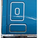 Stainless Steel Lower Sleeper Inset Trim Fits Freightliner Cascadia
