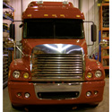 Stainless Steel Louvered Grille With Bug Deflector Fits Freightliner Century
