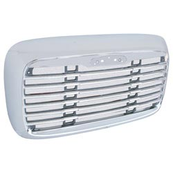 Freightliner Columbia Grille Chrome Plastic With Bug Screen