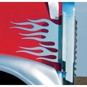 Stainless Steel Hood Flames Fits Freightliner Classic