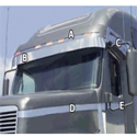 Stainless Steel Hood Accent Trim Fits Freightliner