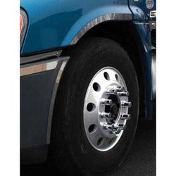 Stainless Steel Outer Fender Trim Fits Freightliner Cascadia (Pair)