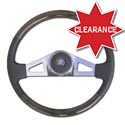 18in Wood Steering Wheel - 2 Spoke - Freightliner Business Class