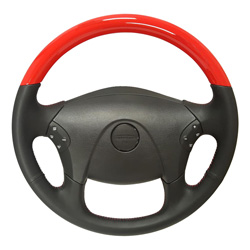 18 Inch OE Style Replacement Viper Red & Leather Steering Wheel Fits Freightliner Cascadia