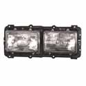Factory Style Dual Square Headlight Assembly Fits Freightliner FLD120