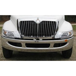 International 4100-4300/8600 Bumper 14 Inch Chrome With Vent/Side Holes