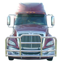 Deluxe Grille Guard With Mounting Brackets Fits International ProStar
