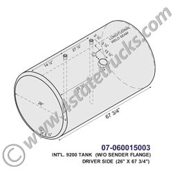 International 9200 Fuel Tank - 150 Gallon Aluminum Fuel Tank