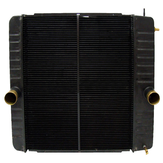Copper Brass Radiator With Oil Cooler 40 875 X 26 187 Inch Fits  International 4100, 4300, 4400, BE & CE Bus