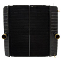 Copper Brass Radiator With Oil Cooler 40.875 X 26.187 Inch Fits International 4100, 4300, 4400, BE & CE Bus