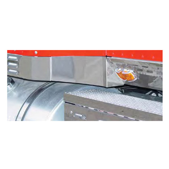 Stainless Steel 51 Inch Sleeper Transition Panels Fits International 9000  Series