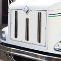 White Vinyl Winter Front Fits International 9100 & 9200