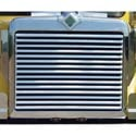 Stainless Steel Grille With 15 Louvered Horizontal Bars Fits International 9300 SBA & 9370