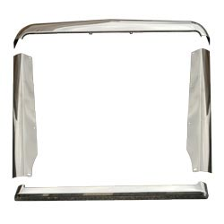 Stainless Steel 4 Piece Grille Trim Fits International 9300 SBA & 9370