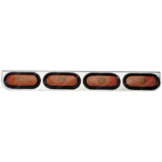 Stainless steel bumper light bar 4 oval amber 4 state trucks stainless steel bumper light bar 4 oval amber mozeypictures Image collections