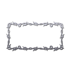 Barbed Wire License Plate Frame