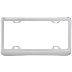 Chrome-Plated Steel License Plate Holder With Wide Bottom