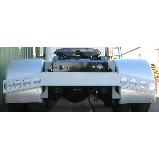 Stainless steel rear bumper light bar with angled ends mozeypictures Images